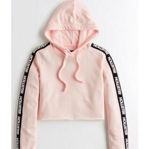 Pink Hoodie crop top
